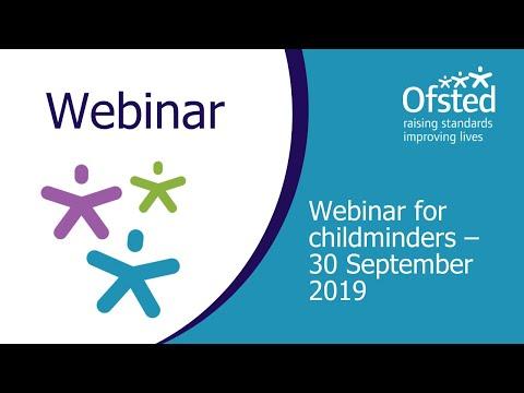 Webinar For Childminders 30 September 2019