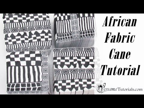 Polymer Clay African Fabric Cane Tutorial