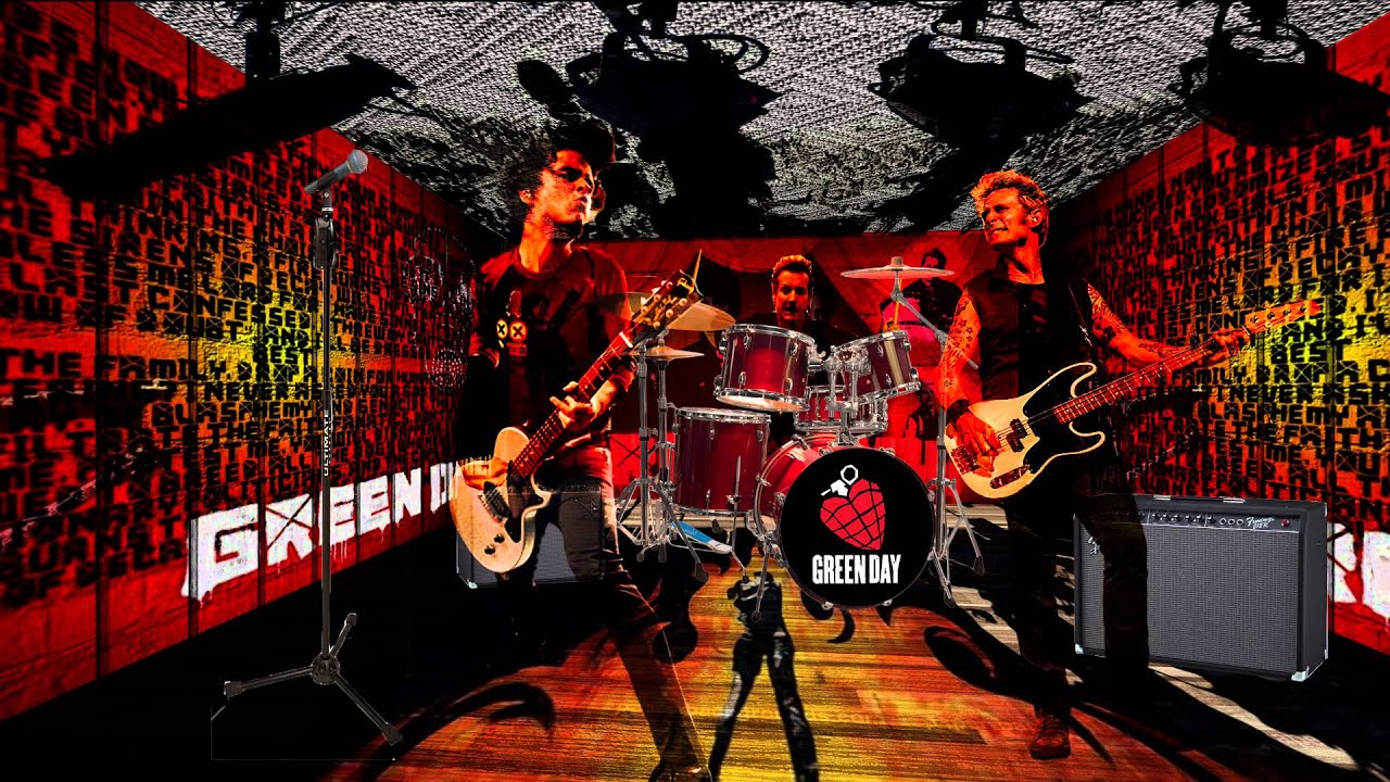 Green Day East Jesus Nowhere Short 3D Concert Posed In After Effects