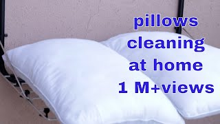 How to wash  pillows at home |How to clean bed  pillows at home by useful tips and tricks for home.