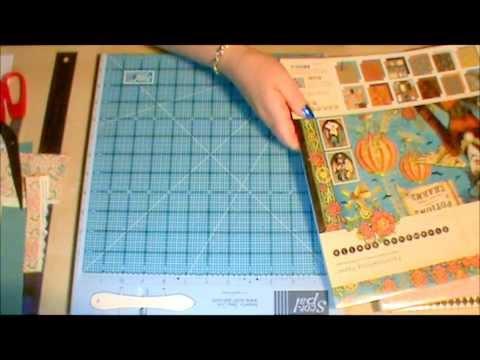 Mini scrapbook tutorial using 1 sheet of 12x12