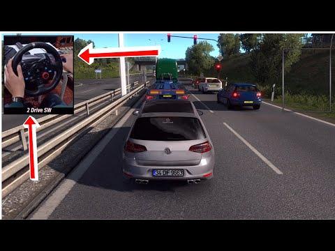 Euro Truck Simulator 2 | Volkswagen Golf 7 R-Line  | Logitech G29 | Mod Car