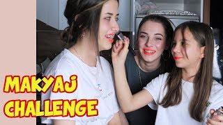 MAKYAJ CHALLENGE YAPTIK | Işıl vs Aslı Güler 'in Arkadaşı Melisa - Eğlenceli Çocuk Videosu