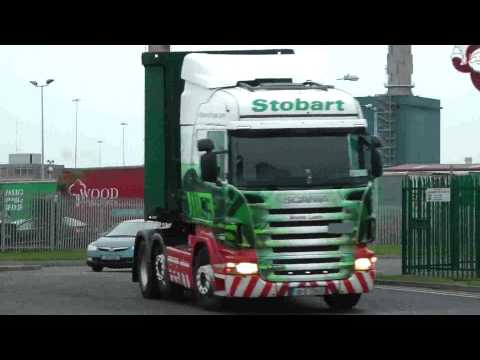 TRUCKS AT DUBLIN PORT DECEMBER  2011