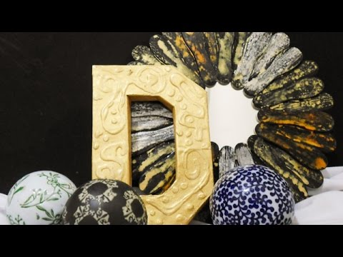 Make a Pretty 3D Faux Metal Letter - Home - Guidecentral