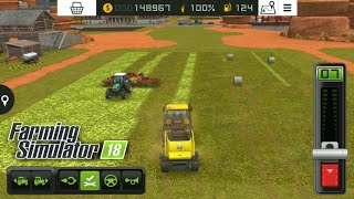 Fs18 farming simulator 18 - otları rulo balya yapmak / round baler with grass