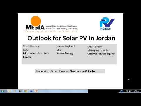 Outlook for Solar PV in Jordan