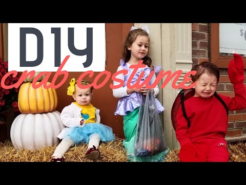 DIY Crab Costume | Little Mermaid's Sebastian Costume | Baker Living+