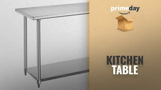 Great Deals On Kitchen Table Amazon Prime Day: Rockpoint Beacon Stainless Steel Table NSF Certified,