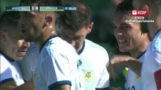 Resumen: Argentina 6 Ecuador 1 - Amistoso Internacional