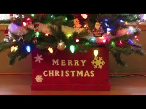 pallet wood christmas tree box collar