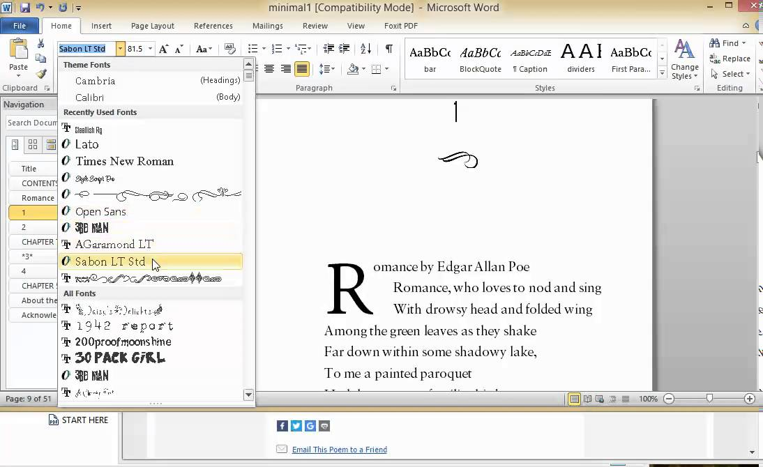 How to format (and publish) a poetry book