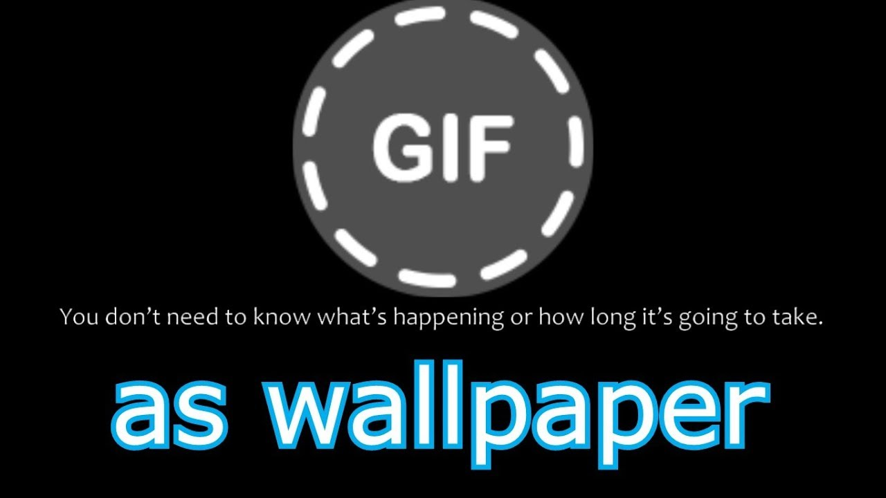 how to set gif as wallpaper wallpaper engine youtube