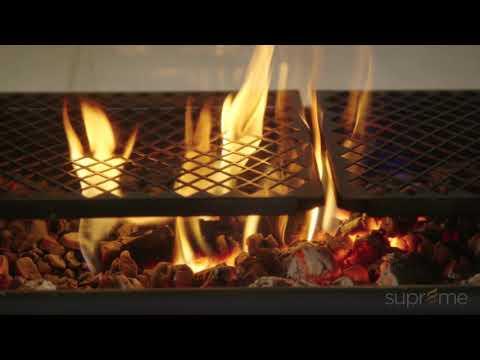 DUET see-through wood burning fireplace