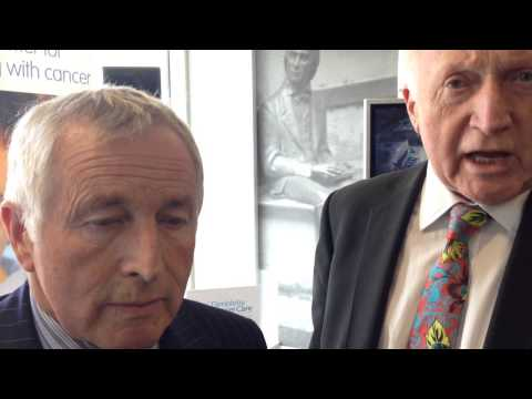 David and Jonathan Dimbleby at Guy's hospital cancer centre appeal launch