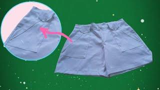 AULA 32 - Shorts com bolso vintage (parte2)