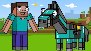Diamond Horse Armor! | Block Squad (Minecraft Animation)