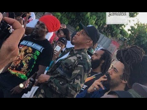 Get Jay Z 'Goes To The Hood In Jamaica To Record With Bob Marley Son' Snapshots