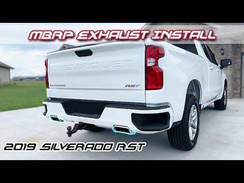 mbrp exhaust install sound 2019 silverado z71 rst