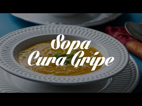 Sopa Cura Gripe | Receitas Saudáveis - Lucilia Diniz