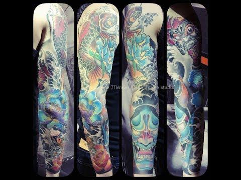 Custom Oriental Full Sleeve Tattoo by Apple Qu Singapore Top Tattoo Studio & Female Artist