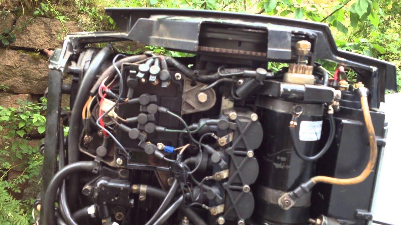 1984 Mercury 60 hp outboard starter igjen etter 3 år i