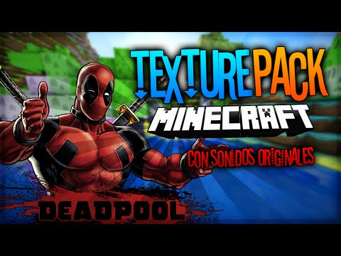 REVIEW MINECRAFT TEXTURE PACK DEADPOOL CON SONIDOS ORIGINALES