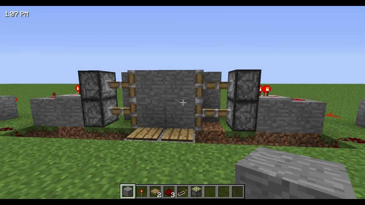 Как сделать в майнкрафте ворота для замка механические