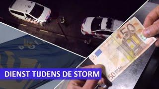 Politie aan het werk tijdens de storm | Vals geld , man wil einde maken aan zijn leven, mishandeling