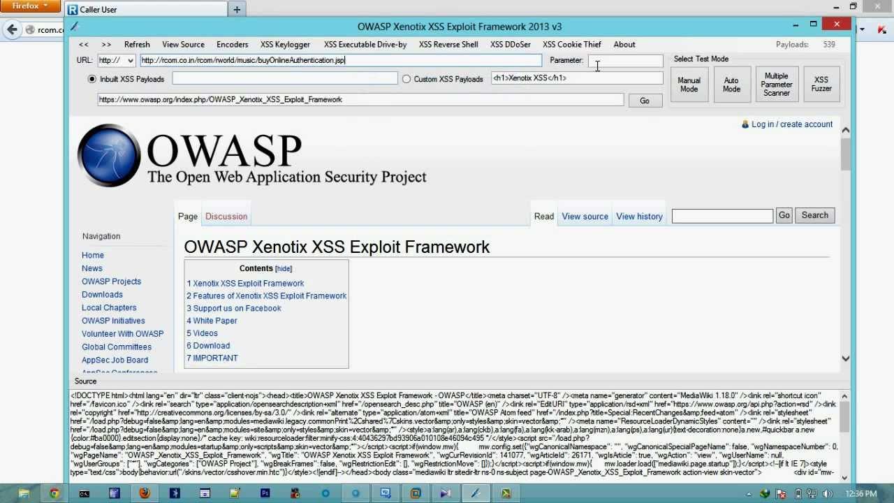 OWASP XENOTIX XSS EXPLOIT FRAMEWORK V3: XSS Scanner