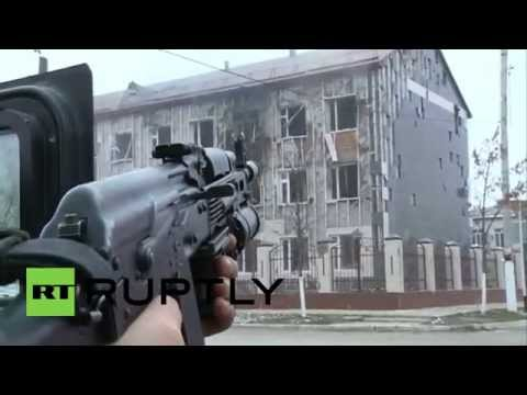 Russia: ROCKET LAUNCHERS Fired On Chechen Militants In Occupied School