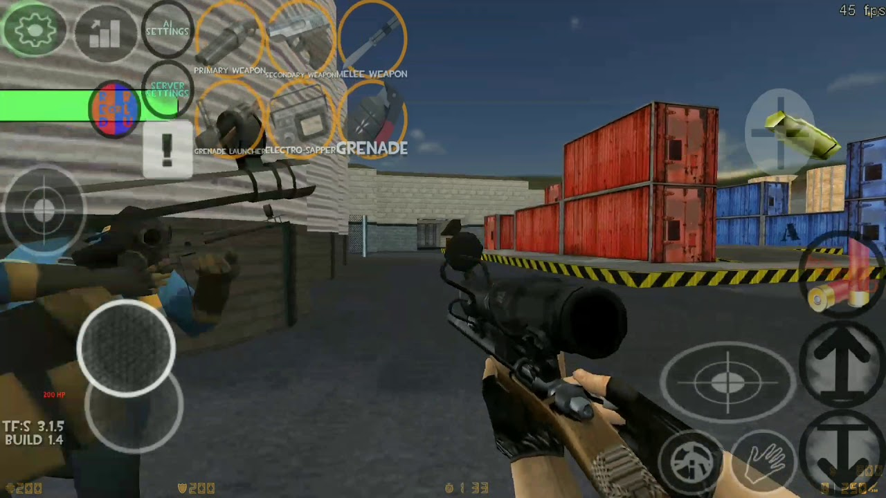 Team Fortress Strategy Tfs Xash3d Android Youtube