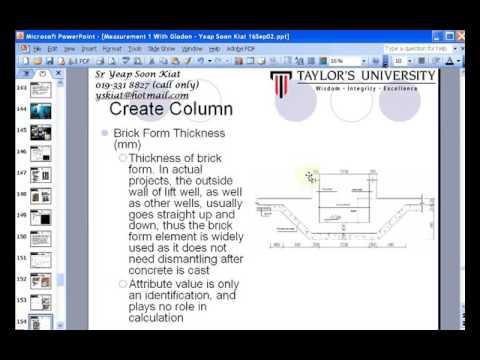 Glodon GAS Column And Pad Footing Tutorial Video