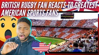 🇬🇧  BRIT Rugby Fan Reacts To The Greatest American Sports Fans! Pure PASSION!