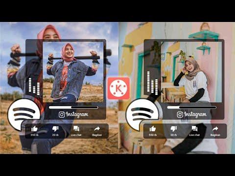 Cara Membuat Video Post Kekinian dengan Template Musik Keren dan Audio Spectrum di Kinemaster