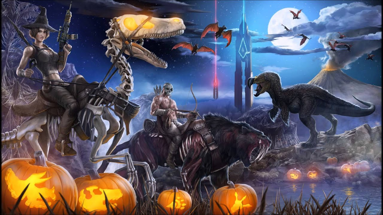 Halloween Theme Soundtrack - ARK: Survival Evolved - 1 HOUR - YouTube