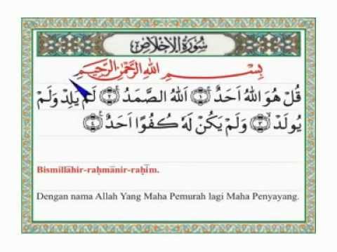 Surat Al Ikhlash Arab Latin Dan Terjemahannya