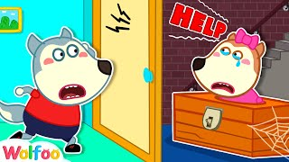 Wolfoo, Help me!  Lucy stuck playing hide and seek  Learn safety tips for kids | Wolfoo channel