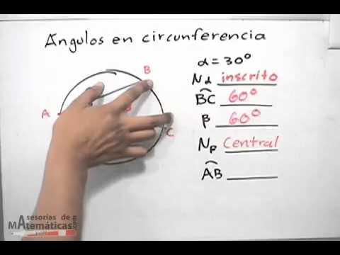 Ejercicios de ángulos en circunferencia - YouTube