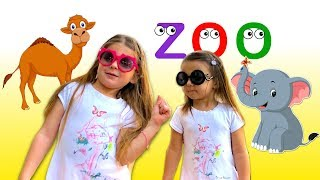Miami Zoo Elya and Adelya going to Zoo Miami with friends | Fun video for kids