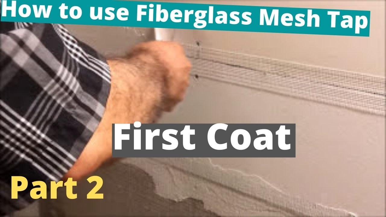 How To Use Fibergl Mesh Tap For Drywall Joints And Corners Part 2 First Coat