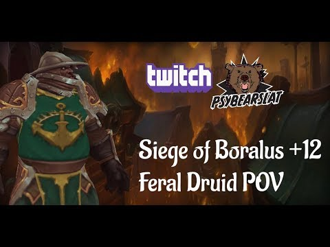 Siege of Boralus +12 WoW Feral Druid How to DPS