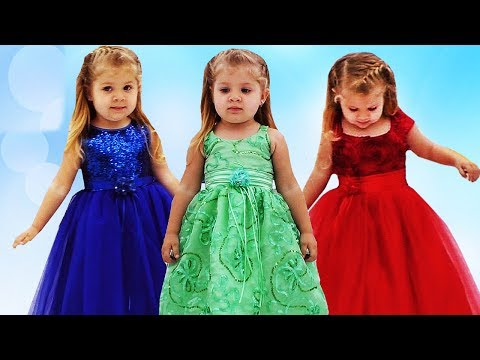 Learn colors with Dresses & Finger Family Song Nursery Rhymes for Kids Colours Learning Video