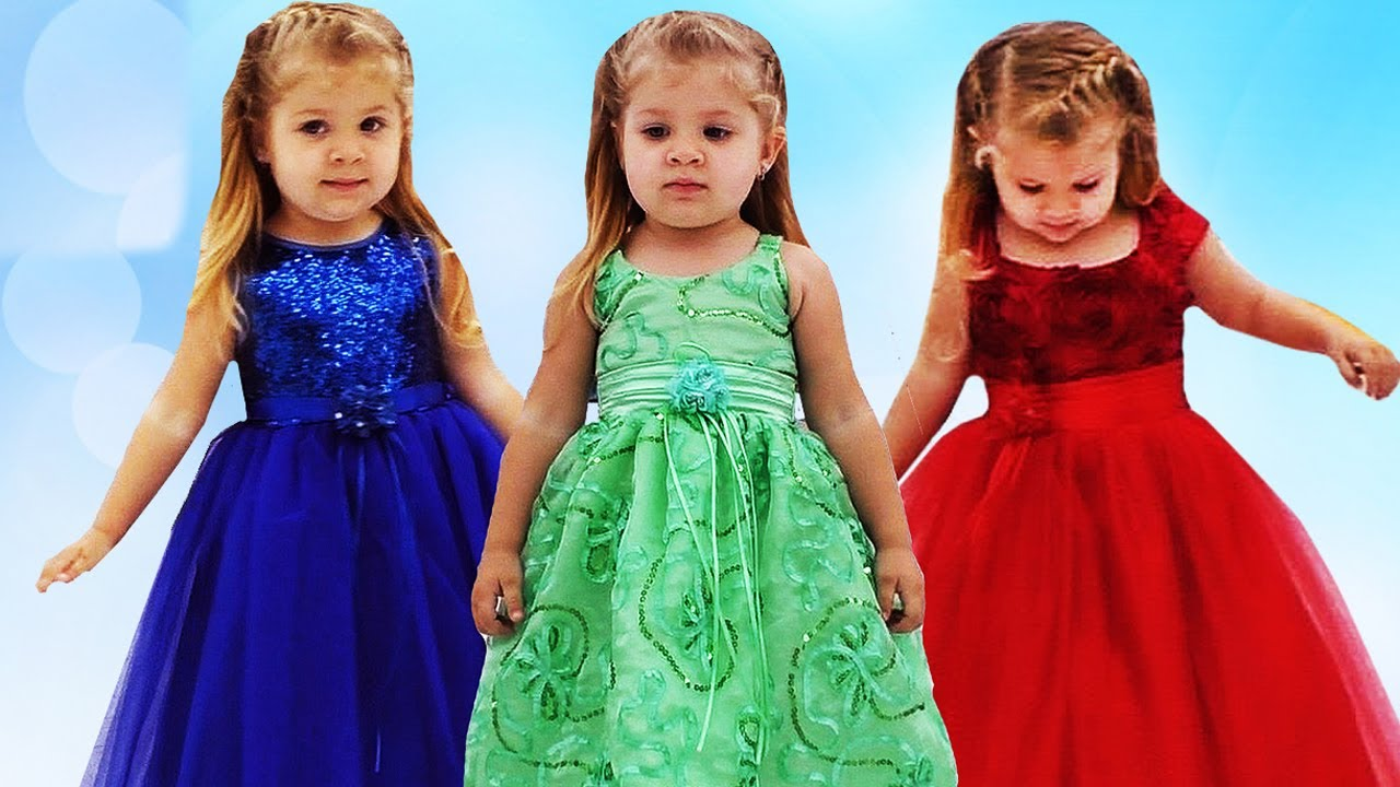 Learn colors with Dresses & Finger Family Song Nursery Rhymes for ...