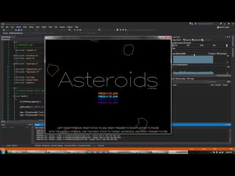 Asteroids in C++ - Line Art