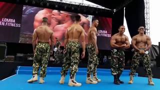 Muscle Army event body contest Marinir Indonesia Guest Pose Taat Pribadi