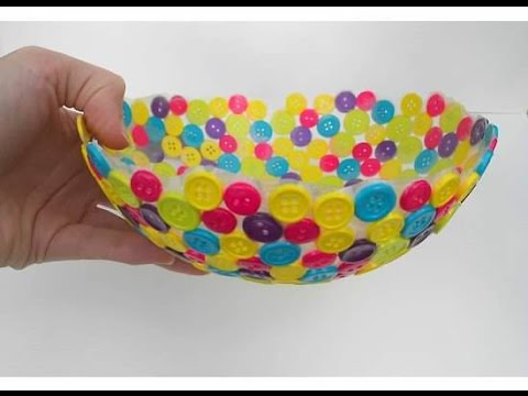 Adorable diy bowls for home decor youtube for Hand works with waste things