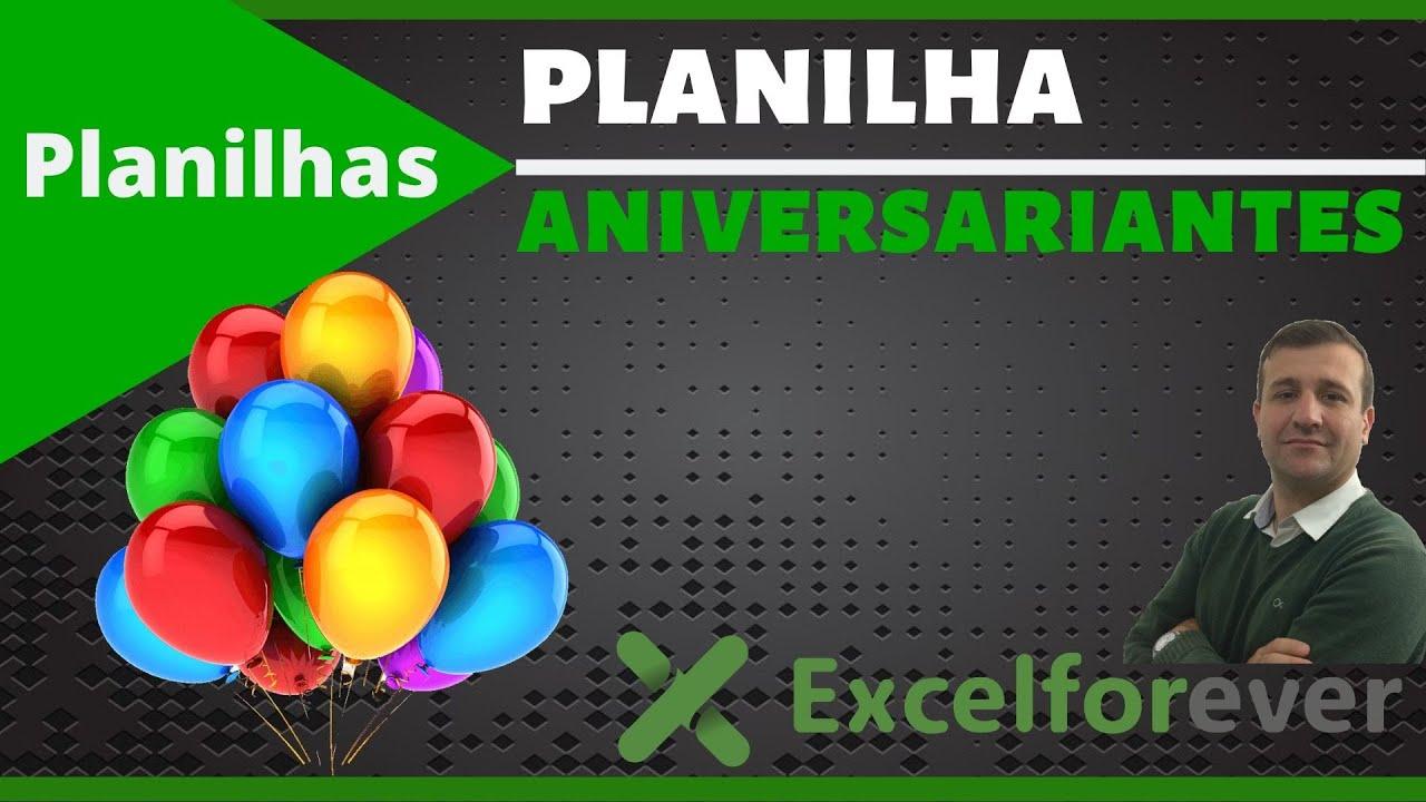 Planilha De Aniversariantes No Excel Excel Forever
