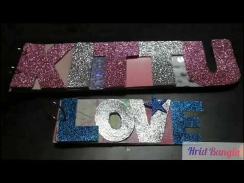 DIY Letter card / Letter scrapbook / Letter name album #paper crafts #DIY - SURPRISE MESSAGE CARD