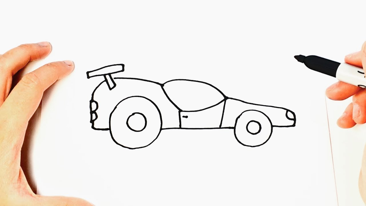 How To Draw A Race Car Race Car Easy Draw Tutorial Youtube